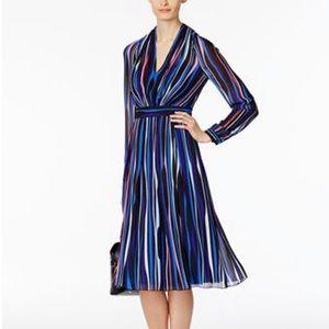 Ann Klein NWOT Striped Fit & Flare